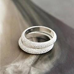 preiswerte Ringe-Damen Bandring - Aleación Modisch 10 Silber Für Party Alltag Normal
