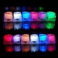 billige Originale LED-lamper-12 stk farve skiftende isterninger ledet lys fest bryllup bar restaurant