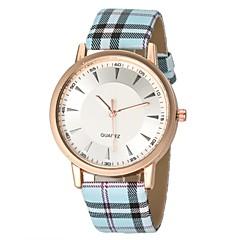 tanie Promocje zegarków-Damskie Kwarcowy Na codzień PU Pasmo Prążki Niebieski Różowy Khaki