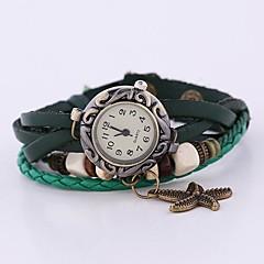 preiswerte Tolle Angebote auf Uhren-Damen Armband-Uhr Armbanduhren für den Alltag Leder Band Böhmische / Modisch Grün / Ein Jahr / SODA AG4