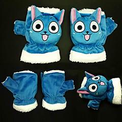 tanie Anime Cosplay-Rękawiczki Zainspirowany przez Fairy Tail Cosplay Anime Akcesoria do Cosplay Rękawiczki Modrá Polarowy Męskie / Damskie / Dziecięcy