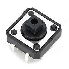 halpa -12 x 12 x 7.3mm Button kytkimet - Musta (20 kpl)