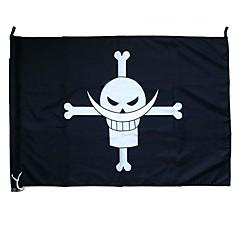 Enemmän lisävarusteita Innoittamana One Piece Cosplay Anime Cosplay-Tarvikkeet Flag Musta Teryleeni Uros