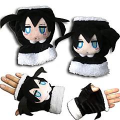 Γάντια Εμπνευσμένη από Vocaloid Black Rock Shooter Anime Αξεσουάρ για Στολές Ηρώων Γάντια Μαύρο Πολική ΠροβιάΑνδρικά / Γυναικεία /