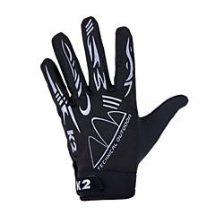 KORAMAN Rękawiczki sportowe Rękawiczki rowerowe Rękawiczki dotykowe Oddychający Wysoka oddychalność (> 15.001g) Full Finger Spandex