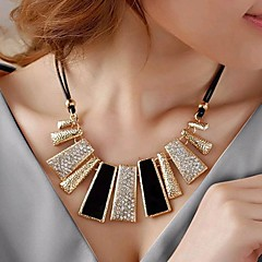 abordables Collares-Cristal Geométrico Collar de hebras - Diamante Sintético Lujo, Moda Negro, Amarillo, Rosa Gargantillas Para Boda, Fiesta, Diario