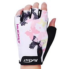guantes de ciclismo nuckily fingerless guantes de poliéster y spandex bicicleta de montaña media deportes al aire libre de los dedos n3558