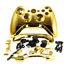 cheap Xbox 360 Accessories-Replacement Housing Case Cover for XBOX 360 Wireless Controller Golden