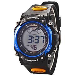 tanie Zegarki damskie-Dziecięce Sportowy Zegarek cyfrowy Cyfrowe LCD Kalendarz Chronograf alarm Guma Pasmo Czarny