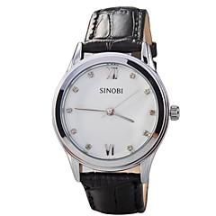 お買い得  大特価腕時計-女性用 日本産クォーツ レザー バンド ハンズ ブラック / ブラウン - ブラック Brown