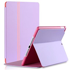 billige Etuier / Covers Til iPad Air-Vouni Keen Series Stripe Design PU Læder med Stand Full Body Case for iPad Air