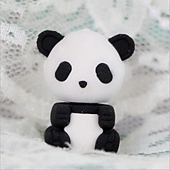 Cute Detachable Panda Shaped Eraser (Random Color x 2 PCS)