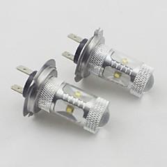 h7 30w 6xosram 450-550lm 6000k luz branca fresca lâmpada LED para carro (10-24v, 2 peças)