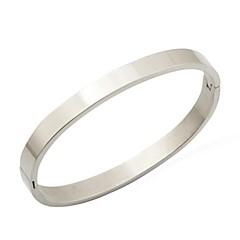 preiswerte Armbänder-Damen Manschetten-Armbänder - Edelstahl Armbänder Silber Für Weihnachts Geschenke / Hochzeit / Party