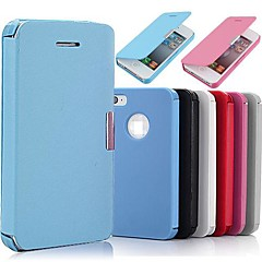 flip pu lederen magnetische full body case voor de iPhone 4 / 4s
