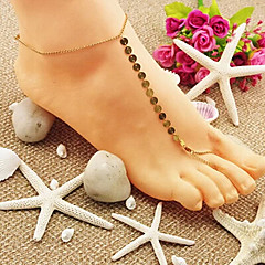 shixin® klasik Shinning altın yalınayak sandalet (1 adet)