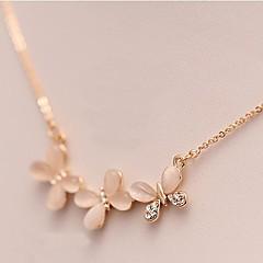 preiswerte Halsketten-Wie im Bild dargestellt Opal Katzenauge Chrysoberyl Halskette - Opal Blume, Schmetterling, Tier Modische Halsketten Schmuck Für Alltag