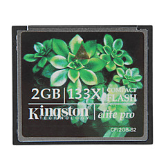 abordables Tarjetas de Memoria CF-kingston 2gb elite pro tarjeta de memoria Compact Flash 133x cf