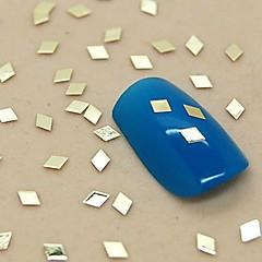 200pcs soild formă de diamant de metal de aur decorare felie unghii