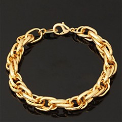 cheap Bracelets-Women's Chunky Chain Bracelet / Bangles / ID Bracelet - Gold Plated Fashion Bracelet For Wedding / Party / Special Occasion / Friendship Bracelet / Vintage Bracelet