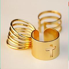 お買い得  指輪-女性用  -  合金 ファッション 7 ゴールデン 用途 パーティー / 日常 / カジュアル