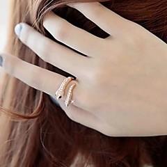 lureme®punk overdreven slangvormige ring klassieke vrouwelijke stijl