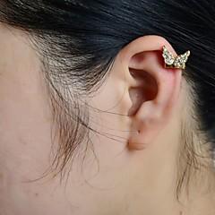 abordables Pendientes-Mujer Mariposa Brillante Diamante Sintético Puños del oído - Lujo Animal Aretes Para Boda Fiesta Diario