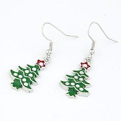 お買い得  イヤリング-女性用 ドロップイヤリング  -  ファッション クリスマス クリスマスツリー イヤリング 用途 クリスマス