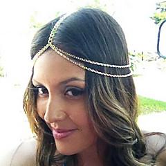 shixin® mode dubbele ketting gouden hoofdband (1 st)