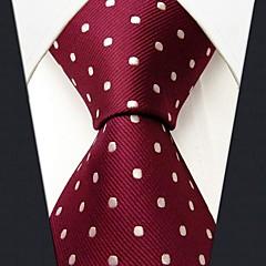 baratos -s15 shlax&asa pontos vermelhos casamento marrom tie moda masculina gravata extra longa