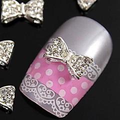 10 buc 3D glitting stras papion accesorii din aliaj de bricolaj pentru decorarea vârfurile degetelor unghii