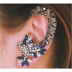 Women's Ear Cuffs Luxury Fashion Costume Jewelry Rhinestone Alloy Animal Shape Bird Jewelry For Wedding Party Daily Casual