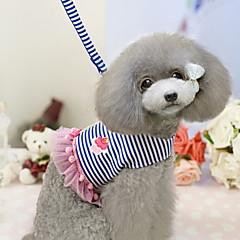 お買い得  犬用首輪/リード/ハーネス-ペットのためのリーシュとイチゴ模様のレースの縁ハーネスは各種の色はサイズをassortd犬