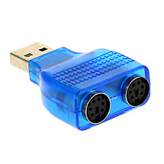 USB 2.0 han til PS / 2-adapter