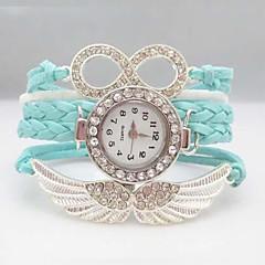 voordelige Dameshorloges-Dames Modieus horloge Armbandhorloge Gesimuleerd Diamant Horloge Kwarts vleugel imitatie Diamond Leer Band Glitter Bohémien Wit Blauw