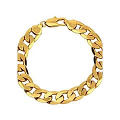billige Damesmykker-Herre Gyldent Guldbelagt Kæde & Lænkearmbånd - Klassisk Smykker Gylden Armbånd Til Fest Afslappet