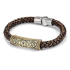 voordelige Herensieraden-Lederen armbanden Liefde Leder LOVE Sieraden Dagelijks Causaal