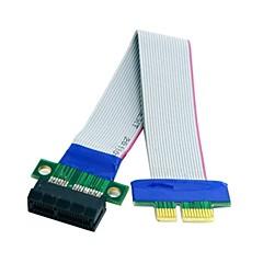 0.2m 0.6ft pci-e ekspress 1x slot riser bild forlenger forlengelse bånd fleks flytte kabel gratis frakt