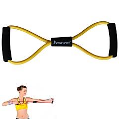 피트니스 운동 요가 코드 근육 운동 노란색 탄성 저항 밴드