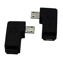 prawo / lewo pod kątem 90 stopni Micro USB męski na żeński Adapter przedłużacza Przelicznik