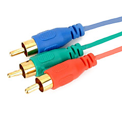 tanie Novinky-hdmi do 3RCA składnika Kabel adapter AV 1,5 m 5 stóp