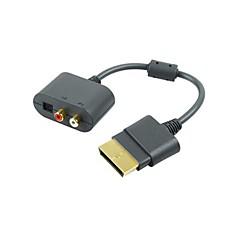 お買い得  Xbox 360用ケーブル&アダプター-マイクロソフトXbox 360のコンソールゲームのための一般的な光学RCAオーディオアダプタコンバータケーブルコード