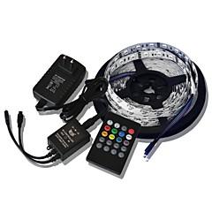 5m 300x5050 smd musiikki Valonauhojen rgb joustava led nauhat + 20key musiikki kaukosäädin + 2a teho (ac110-240v)