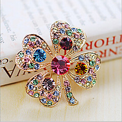 cheap Brooches-Women's Brooches - Crystal, Cubic Zirconia Ladies, Party, Fashion Brooch Jewelry White / Rainbow For Wedding / Party / Special Occasion / Anniversary / Birthday / Gift