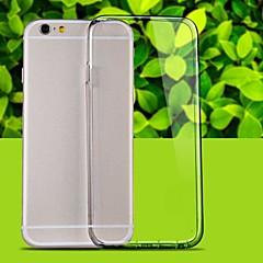 Недорогие Кейсы для iPhone 6 Plus-Кейс для Назначение Apple iPhone 6 iPhone 6 Plus Прозрачный Кейс на заднюю панель Сплошной цвет Мягкий ТПУ для iPhone 6s Plus iPhone 6s