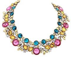 お買い得  ネックレス-女性用 ビブネックレス ステートメントネックレス - 欧風 ブラック, ブルー, 虹色 ネックレス 用途