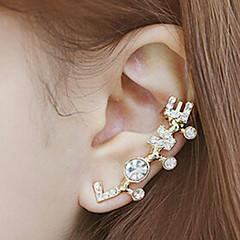 お買い得  イヤリング-女性用 耳の袖口  -  ラインストーン, イミテーションダイヤモンド 幸福 クラシック, 初期ジュエリー 用途 日常 カジュアル