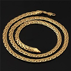 Choker Necklaces Chain Necklaces Strands Necklaces Circle Gold Plated Costume Jewelry Jewelry For Wedding Party Daily Casual Sports