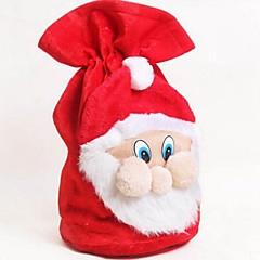 abordables Bolsas y Cajas-navidad santa claus bolso de terciopelo bolsa de regalo de dulces