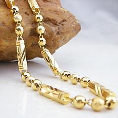 18k позолоченный медный ожерелье 50см